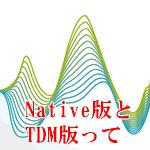 NATIVE版とTDM版って