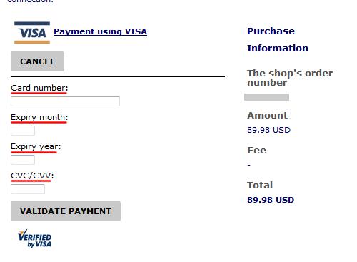 カードナンバー入力画面