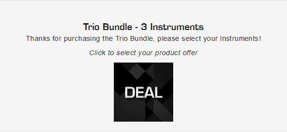 trio bundle 選ぶ