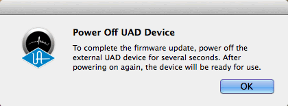 UAD デバイスオフ