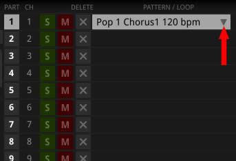 MIDIパターン削除の仕方