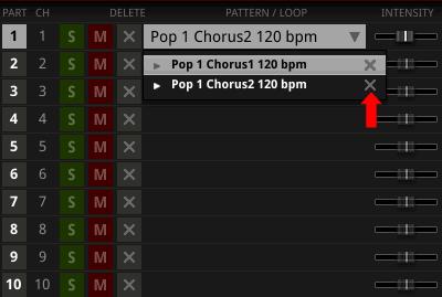 MIDIパターン削除方法